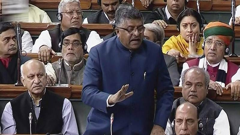 Parliament: Ravi Shankar Prasad exhorts Lok Sabha not to link Triple Talaq bill with religion, politics
