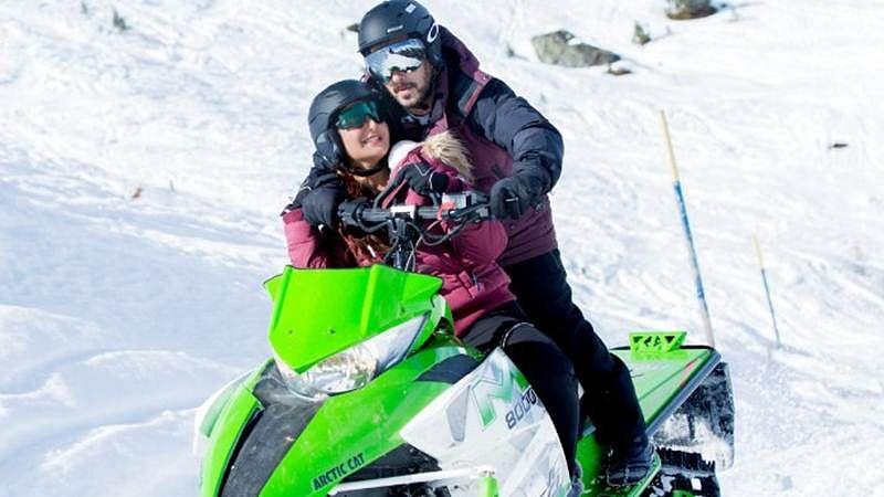 Wow! Salman Khan woos Katrina Kaif on a snow-mobile in Tiger Zinda Hai, see photo