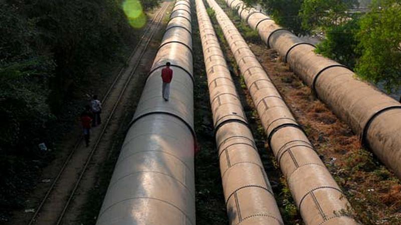 Mumbai: BMC's demolition drive along Tansa pipeline in full swing