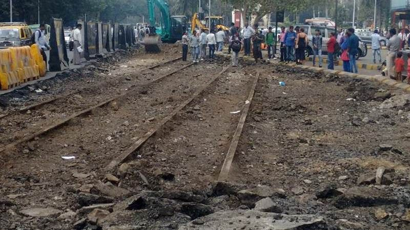 Mumbai: Tram track remnants found in Tardeo; to be kept in BEST museum