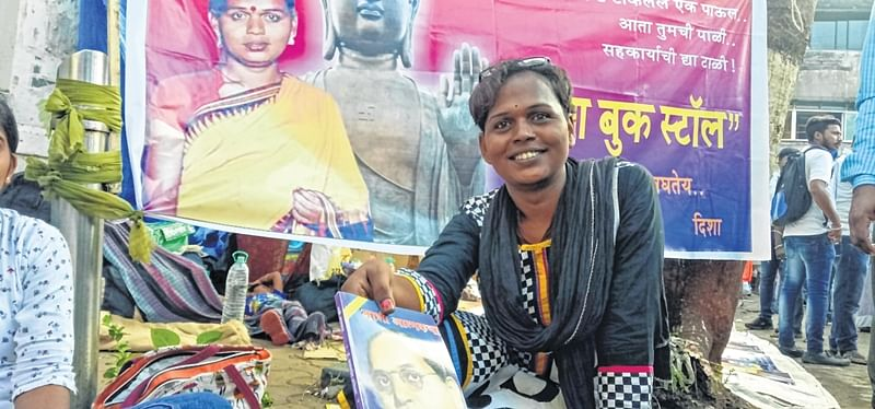 Mumbai: In a first, 33-year-old transgender sets-up book stall at Chaityabhoomi in Shivaji Park