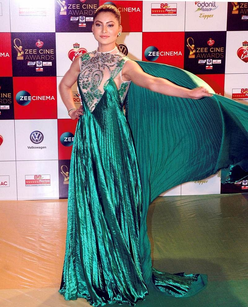 Urvashi Rautela poses during the 'Zee Cine Awards 2018' event in Mumbai on Tuesday evening. PTI Photo