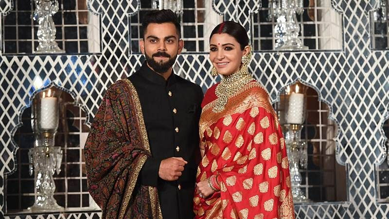 Virushka wedding reception: Anushka Sharma's saree ...