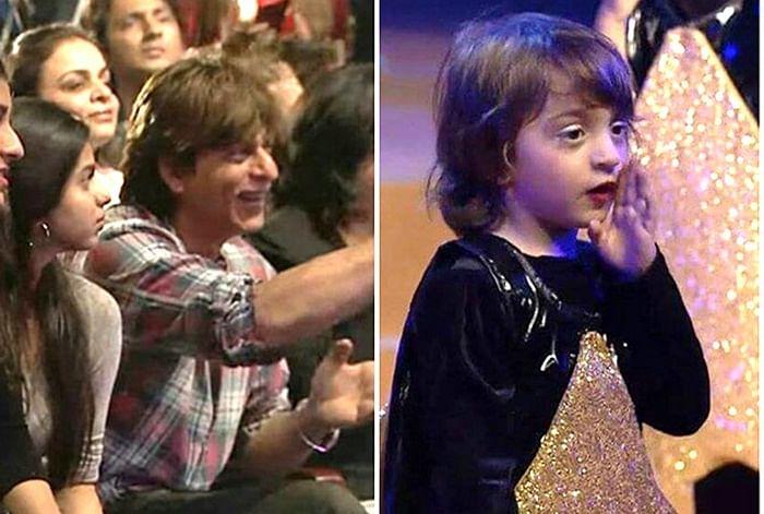 WATCH: Abram Khan performs on 'Yeh Tara Woh Tara'; Shah Rukh Khan and Suhana Khan enjoy the performance