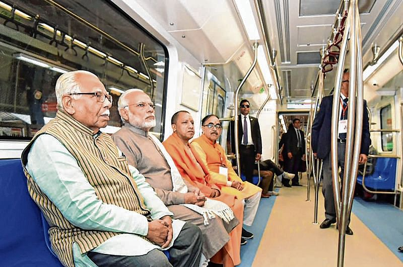 Noida-south Delhi closer as PM flags off services on metro's Magenta Line