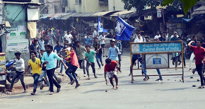Bhima Koregaon violence lead to protest in Mumbai