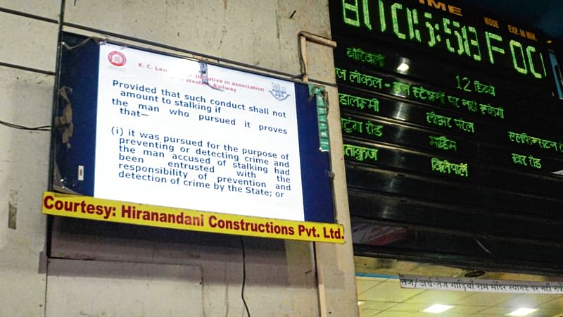 LED screens at Churchgate station to create legal awareness among Mumbai's commuters