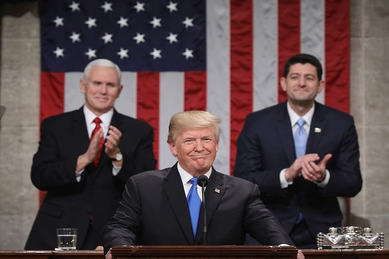 Donald Trump hails 'new American moment' in State of Union address