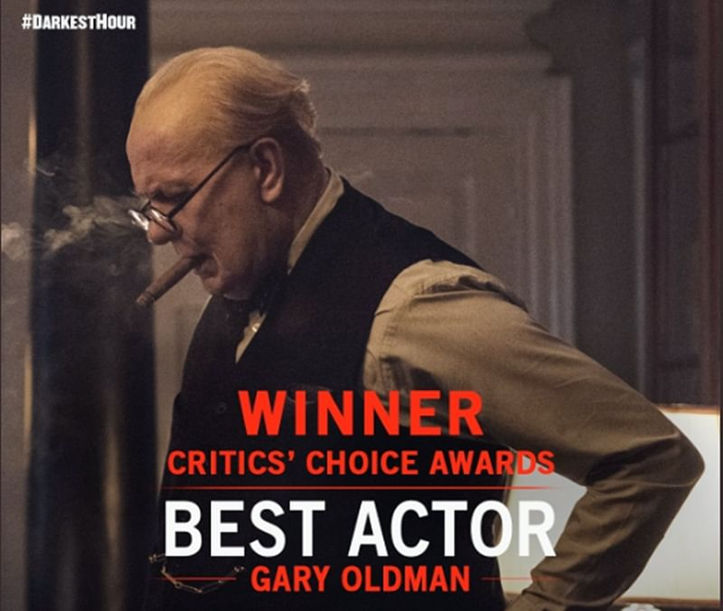 Gary Oldman wins Best Actor at Critics' Choice Awards