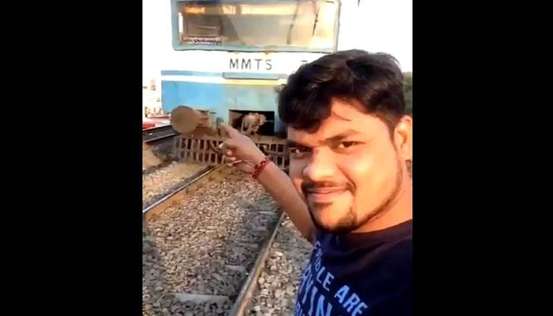 Hyderabad Selfie Horror: 25-year-old student gets hit by running train while clicking selfie