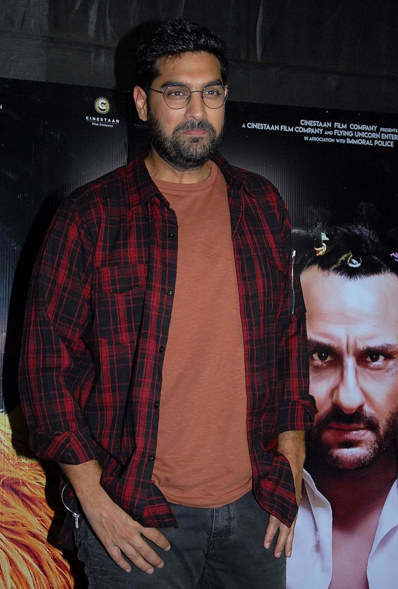 Indian Bollywood actor Kunaal Roy Kapur attends the special screening of upcoming comedy Hindi film 'Kaalakaandi' in Mumbai on January 9, 2018. / AFP PHOTO / Sujit Jaiswal