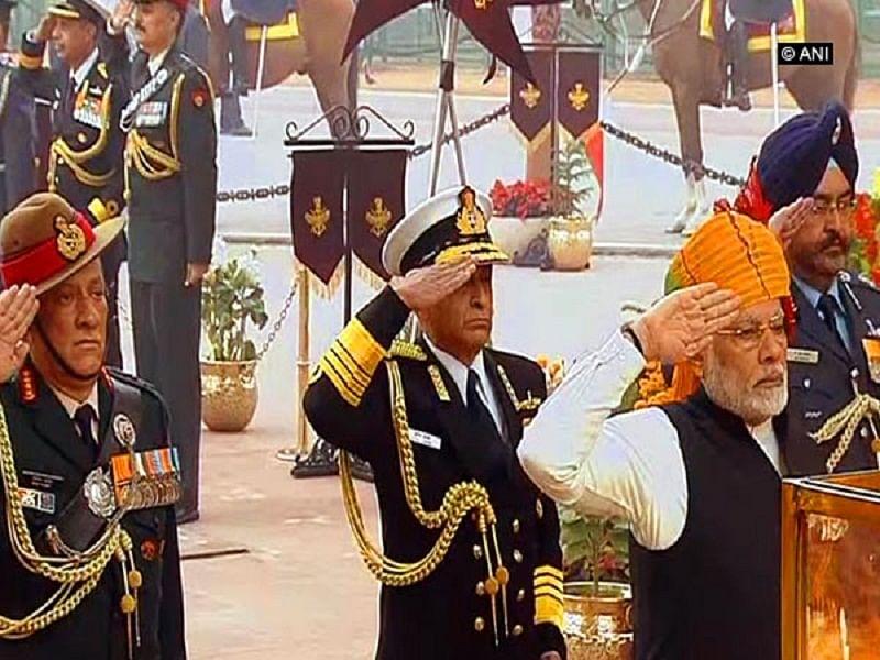 Republic Day: PM Narendra Modi pays tribute at Amar Jawan Jyoti