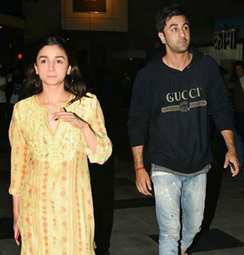 Padmaavat screening: Buddies Ranbir Kapoor and Alia Bhatt spotted together; see pics