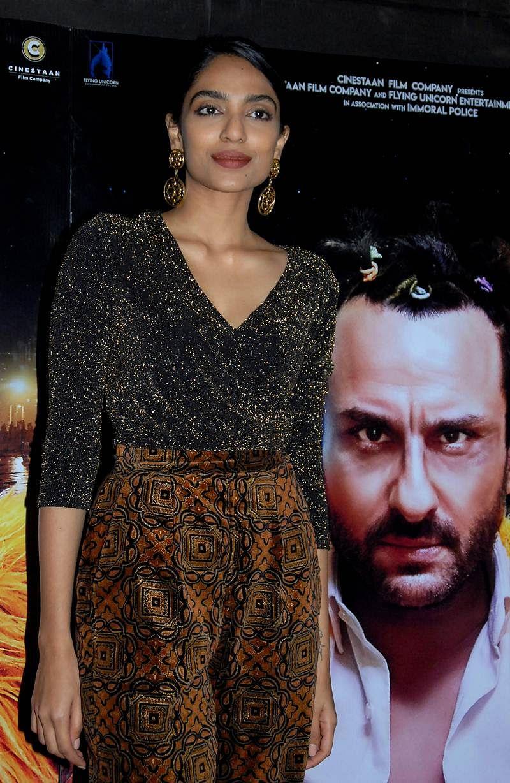 Indian Bollywood actress Sobhita Dhulipala attends the special screening of upcoming comedy Hindi film 'Kaalakaandi' in Mumbai on January 9, 2018. / AFP PHOTO / Sujit Jaiswal