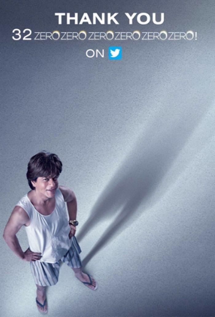 Shah Rukh Khan thanks fans for clocks 32 million followers on Twitter