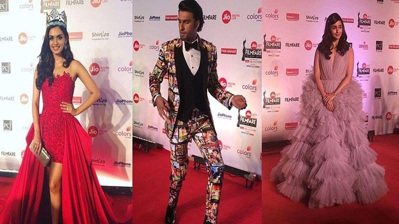 In Pictures: Sonam, Alia, Manushi Chillar grace the red carpet at 63rd Filmfare Awards