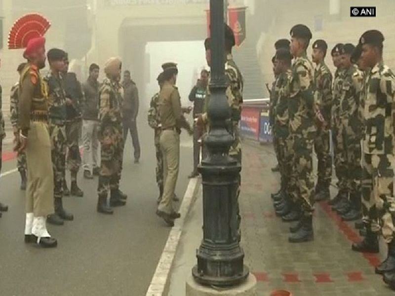 Soldiers celebrate Republic Day at Attari-Wagah border