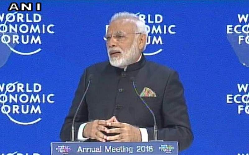 PM Narendra Modi addresses the Plenary Session of the World Economic Forum in Davos