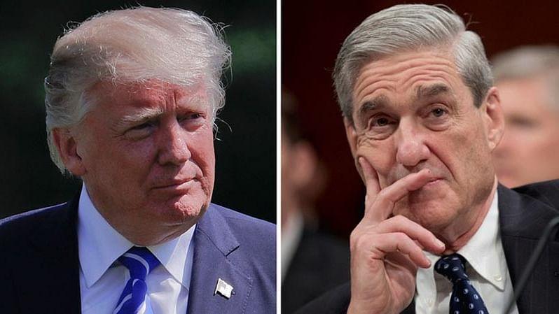 US President Donald Trump (L) and US prosecutor Mueller (R)