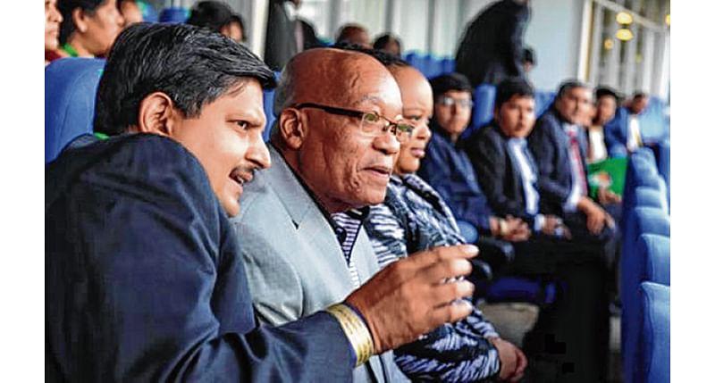 South Africa police raids Gupta family home