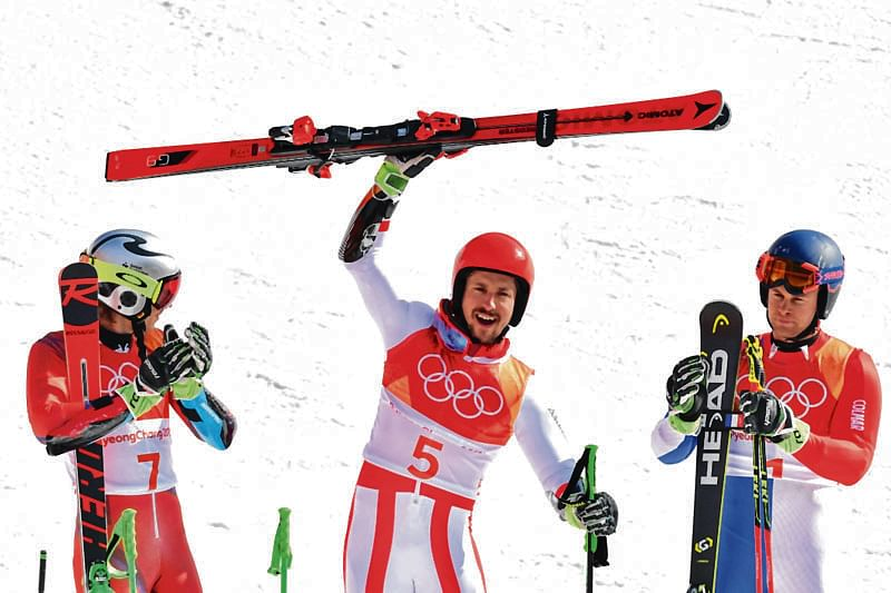 Hirscher claims Olympic double with giant slalom victory