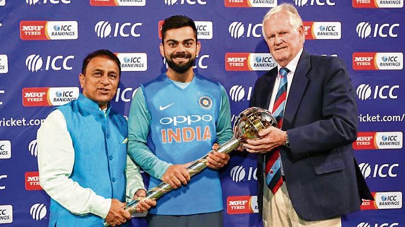 ICC presents Kohli with Test Championship Mace