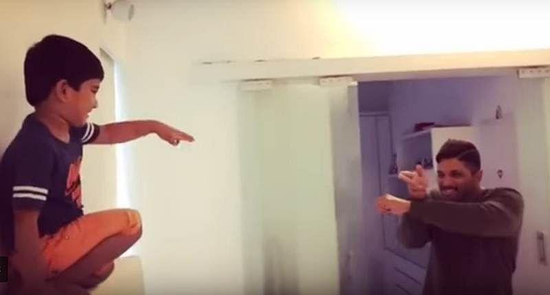 Allu Arjun and son recreates Priya Prakash Varrier's viral wink and it is adorable, watch video