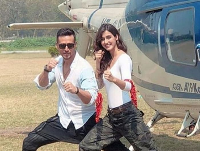 Baaghi 2 Trailer launch: Tiger Shroff and Disha Patani make a grand entry in a chopper; see pics