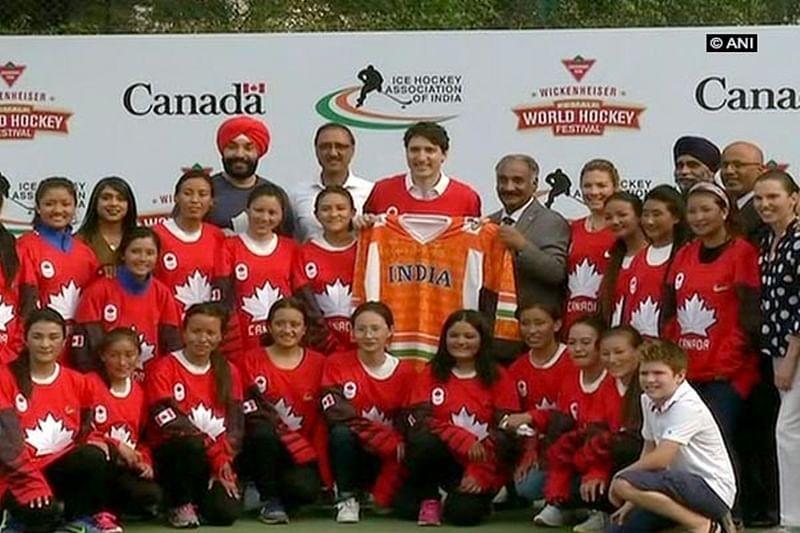 Canadian PM Justin Trudeau participates in Delhi hockey event