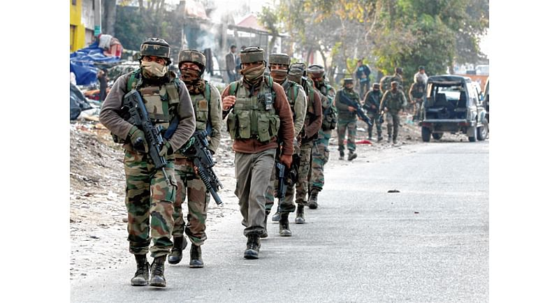Massive search operation in Jammu and Kashmir border villages