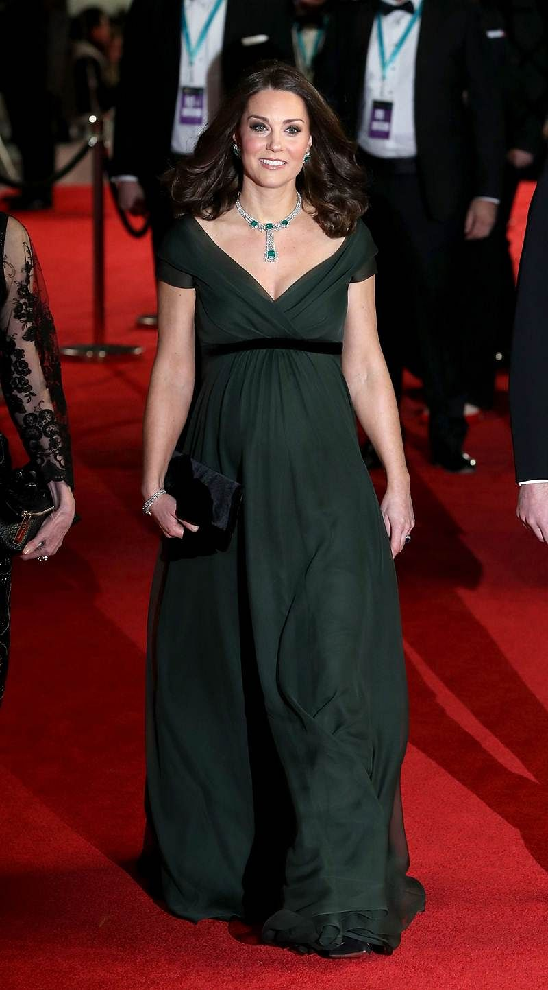 Catherine, Duchess of Cambridge smiles as she attends the BAFTA at the Royal Albert Hall in. / AFP PHOTO / POOL / CHRIS JACKSON