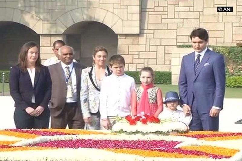 Canadian PM Justin Trudeau, family pays tribute to Mahatma Gandhi at Rajghat