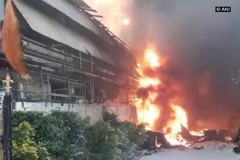 Hyderabad: Massive fire breaks out at chemical factory in Jeedimetla industrial area, rescue ops on