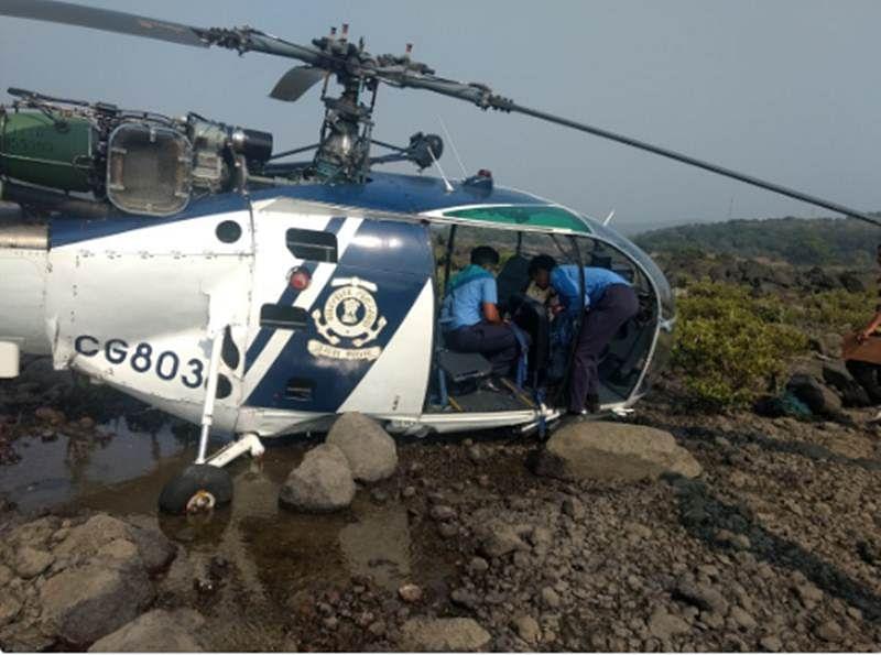 CG chopper makes emergency landing, woman co-pilot hurt