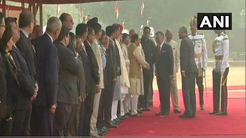 King Abdullah II of Jordan receives ceremonial reception at Rashtrapati Bhavan