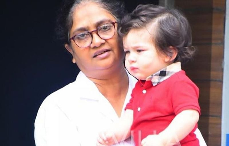 See pics: Little Taimur Ali Khan ignores shutterbugs, is in no mood to pose