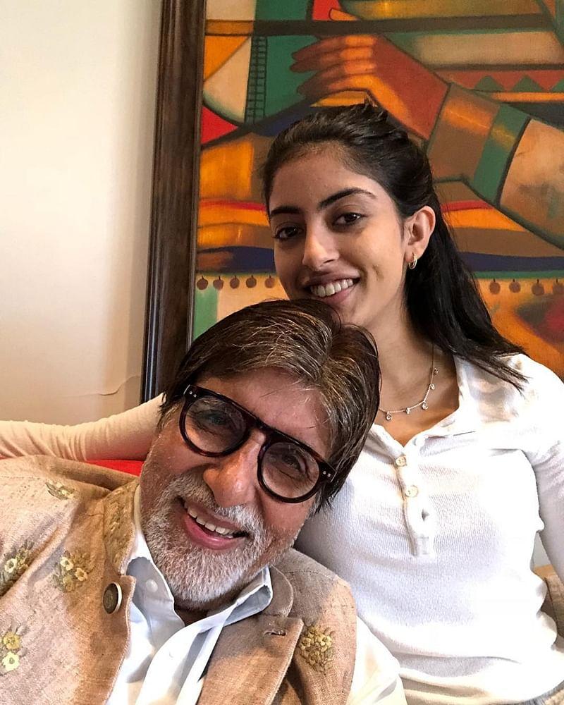 See Pic: Amitabh Bachchan returns to Mumbai, shares adorable selfie with grand-daughter Navya Naveli Nanda