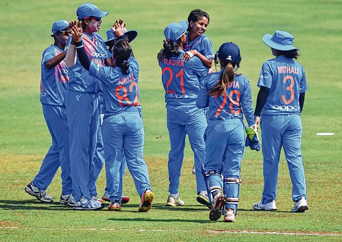 Spinners, Mandhana secure consolation win for India