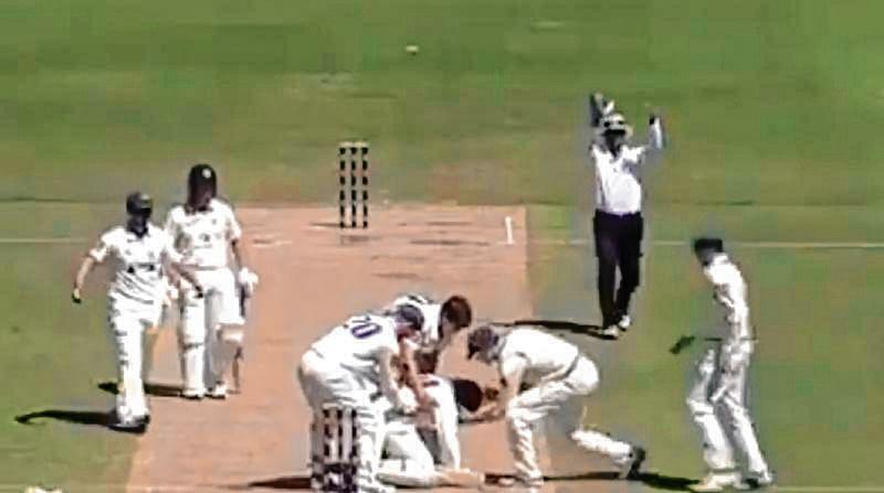 Abbott bouncer fells batsman in chilling Hughes reminder