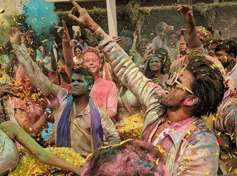 Ranveer Singh host Holi party for Pharrell Williams at Taj Land Ends; See pics