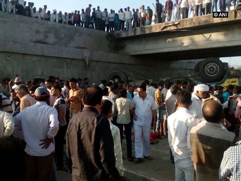 Gujarat: 27 dead, 12 injured after truck carrying 60 people falls into drain in Bhavnagar