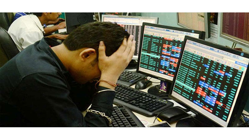 Sensex down by 430 points on bank scam