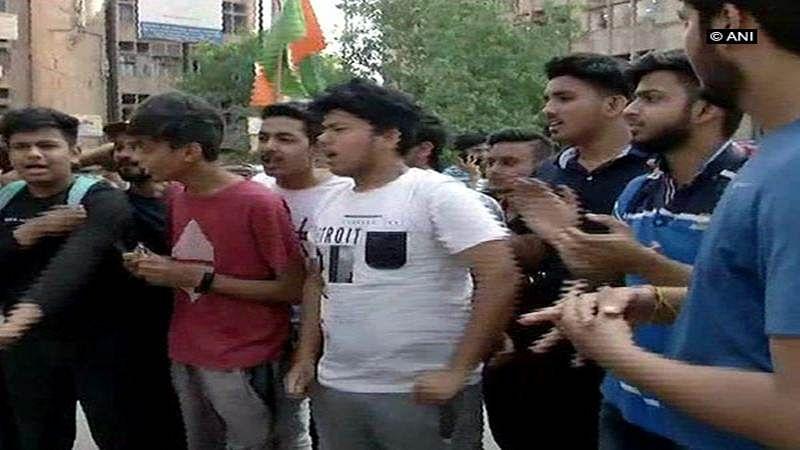 CBSE Paper leak: Students protest outside CBSE office in Delhi