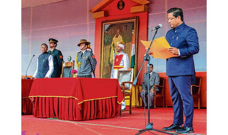 Conrad sworn in as Meghalaya CM