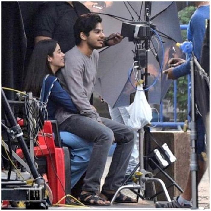 Doesn't this picture of Ishaan Khatter sitting on Janhvi Kapoor's lap look endearing?