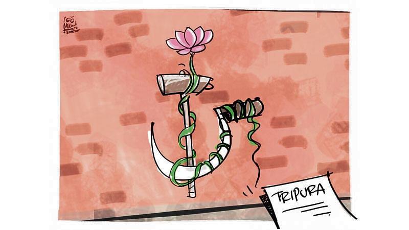 BJP co-opts the Congress in Tripura, develops opportunism to a fine art