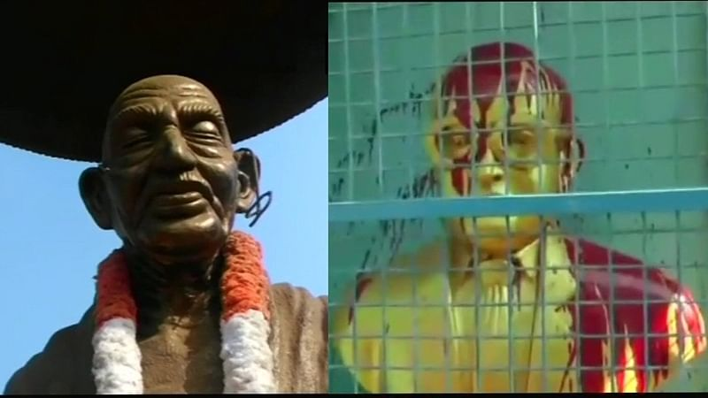 One arrested for damaging Mahatma Gandhi's statue at Kannur