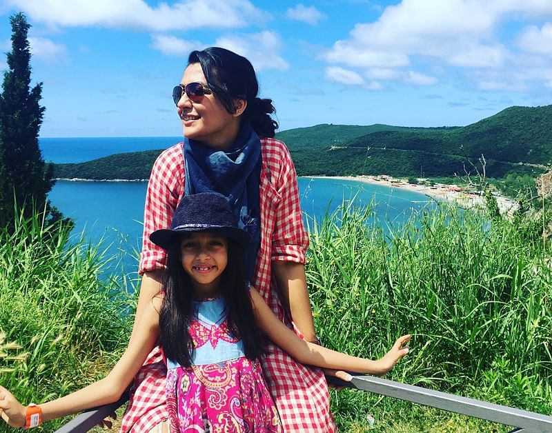 Mini Mathur and 7-year-old daughter on a unique European Sojourn; see pics