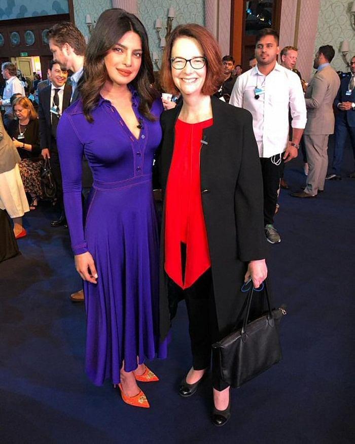 Priyanka Chopra meets Charlize Theron, Lewis Hamilton and Suits stars Gina Torres and Sarah Rafferty in Dubai