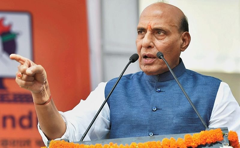 Rajnath Singh tears into Pakistan, alleges conspiracy to break India